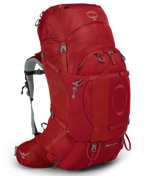 Osprey Ariel PLUS 70 Carnelian Red Wxs/s