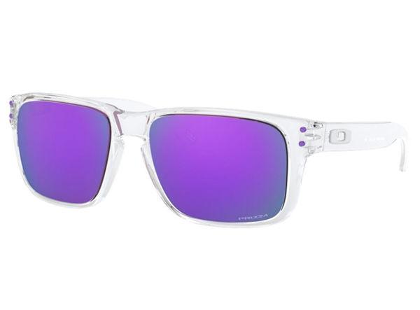 Oakley  Holbrook  XS - POLISHED CLEAR/prizm violet