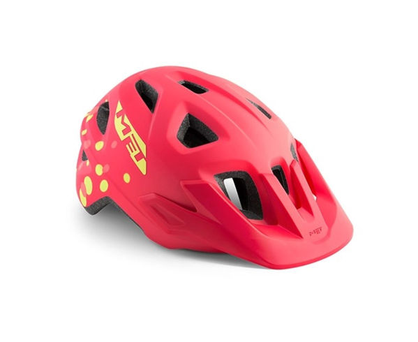 Met Helmet Youth Eldar, 52-57cm - Pink Polka Dots