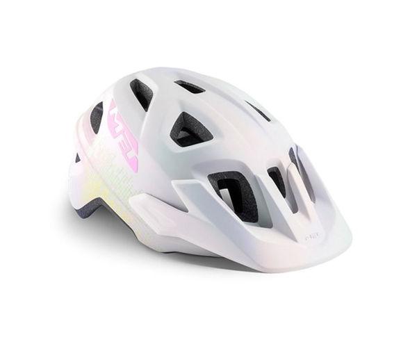 Met Helmet Youth Eldar, 52-57cm - Iridescent White Texture/Matt