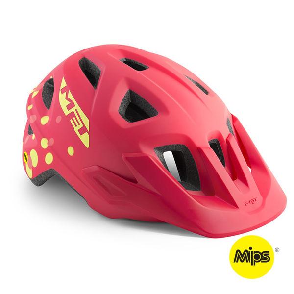 Met Helmet Youth Eldar Mips, 52-57cm - Pink Polka Dots