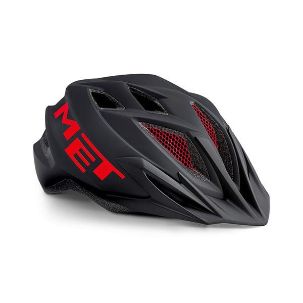 Met Helmet Youth Crackerjack, 52-57cm - Sort/Rød