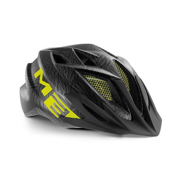 Met Helmet Youth Crackerjack, 52-57cm - Sort/Grønn