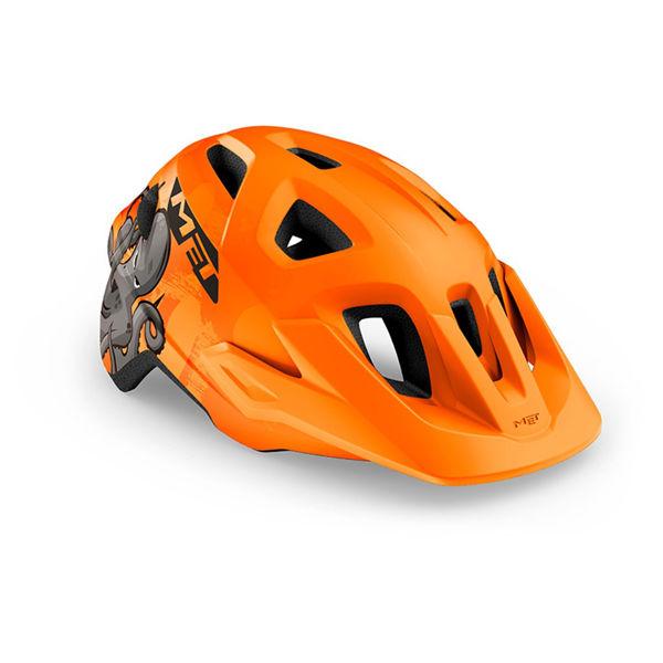 Met Helmet Youth Eldar, 52-57cm - Orange Octopus