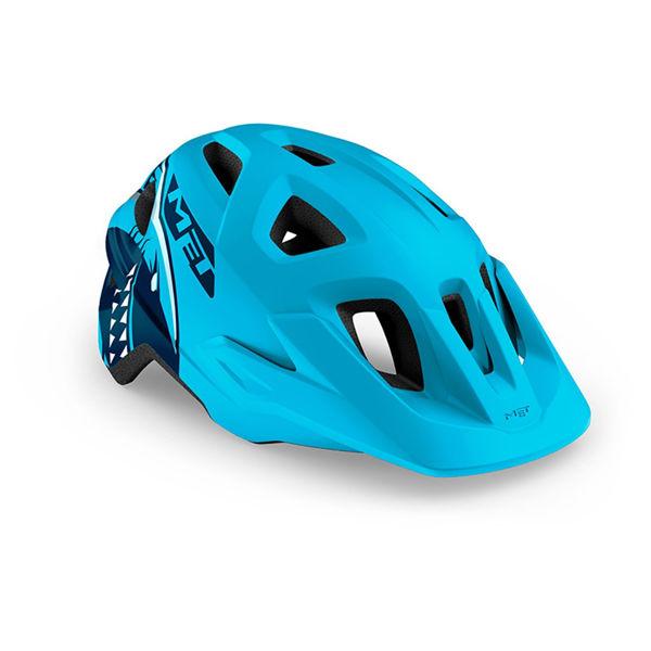 Met Helmet Youth Eldar, 52-57cm - Blue Shark